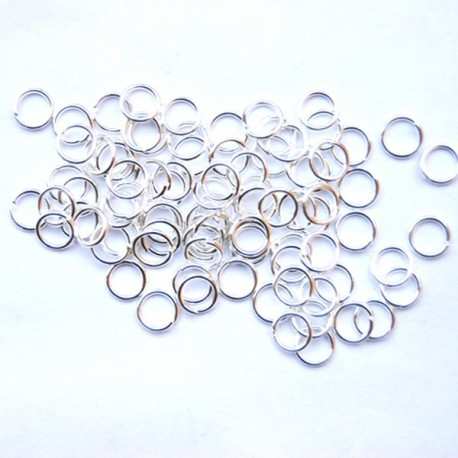 Bindring, 6 mm, Silver plated, ca 100 st