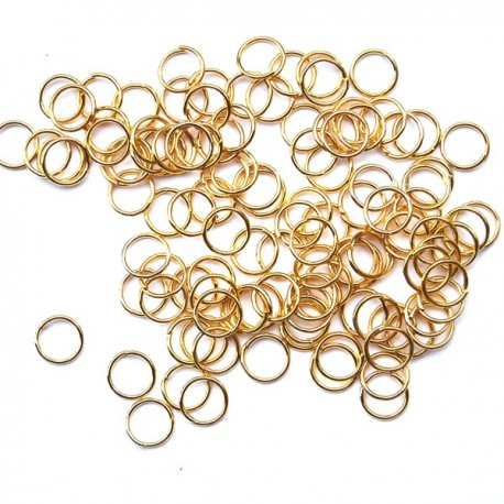 Bindring, 7 mm, Guld plated, ca 100 st