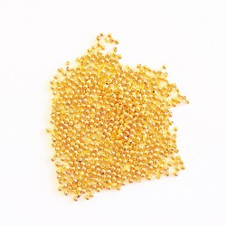 Dekorpärlor, 2 mm, Guld plated, 10 g