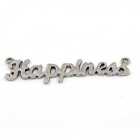 "Hänge ""Happiness"", 54 x 15 mm, Antik silver, 1 st"