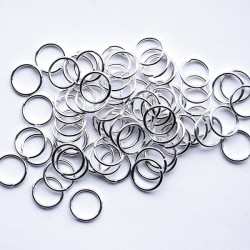 Bindring, 10 mm, Silver plated, ca 100 st