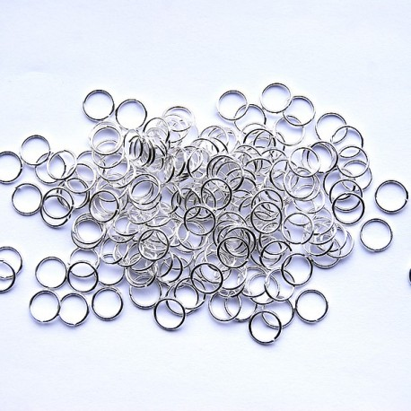 Bindring, 7 mm, Silver plated, ca 100 st