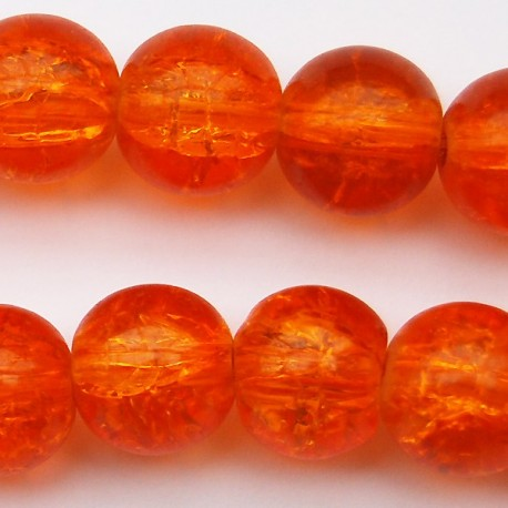 Runda krackelerade, 10 mm, Orange, 10 st